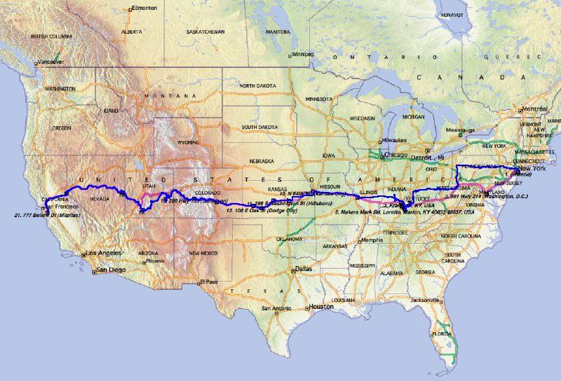 Us Rt 50 Map US 50 or how to avoid a long flight in coach